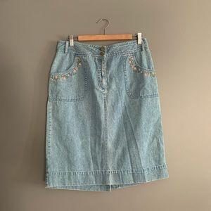 Dresses & Skirts - Carroll Reed Jean Skirt